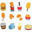 Cartoon fast food icon — Stock Vector