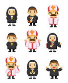 Cartoon priest icon — Stock Vector