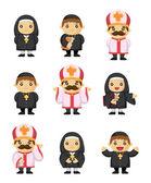 Cartoon priest icon — Stock Vector