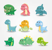 Cartoon dinosaur icon — Stock Vector