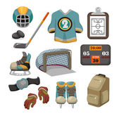 Vector ice hockey icon set — Stock Vector