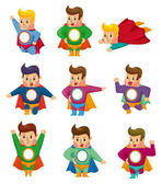 Cartoon superman icons — Vetorial Stock