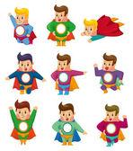 ícones de super-homem dos desenhos animados — Vetorial Stock