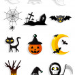 Halloween-icons — Stockvektor