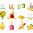 Cartoon Finance & Money Icon set - Stock Vector