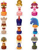 Cartoon chess isolated — Stock Vector