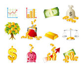 Cartoon Finance & Money Icon set — Stock Vector