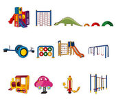 Cartoon park playground icon — Stock Vector