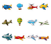 Cartoon airplane icon — Stock Vector