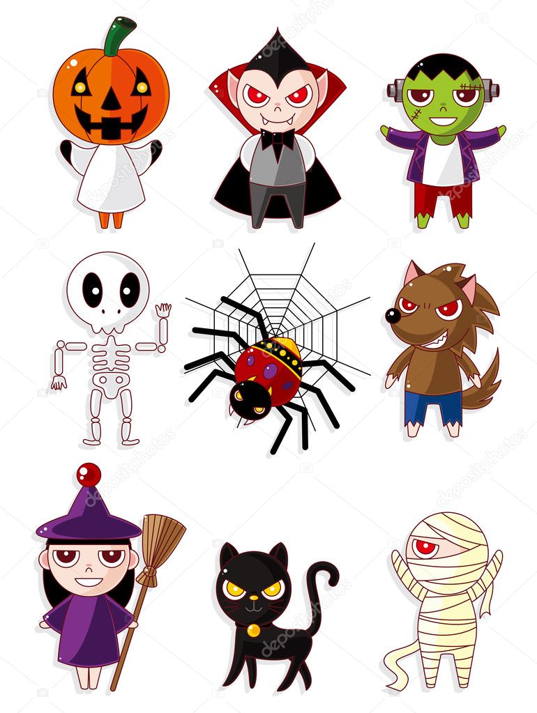 Dessin anim les ic nes de monstre d 39 halloween image - Dessin monstre halloween ...