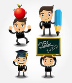 Back to school icon — Stock Vector