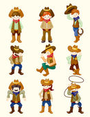 Cartoon cowboy icon — Stock Vector
