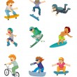 Stock Vector: Cartoon Extreme sport icon