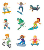 Cartoon Extreme sport icon — Stock Vector