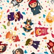 Costume party seamless pattern — Imagen vectorial