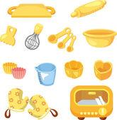 Cartoon Bake tool icon — Stock Vector