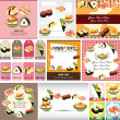 Japanese food menu card - Stock Vector