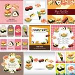 Japanese food menu card — Stock Vector