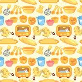 Seamless bake tool pattern — Stock Vector