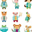 Royalty-Free Stock Vector Image: Cartoon animal doctor