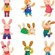 Set of rabbit - Stock Vector