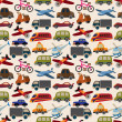 Seamless transport pattern — Stock Vector