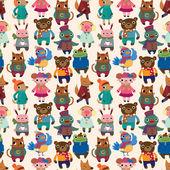 Winter animal seamless pattern — Stock Vector