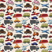 Bezszwowe transportu wzór — Wektor stockowy