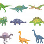 Cartoon dinosaur icon — Stock Vector #8996283