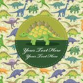 Dinosaur card — Stock Vector