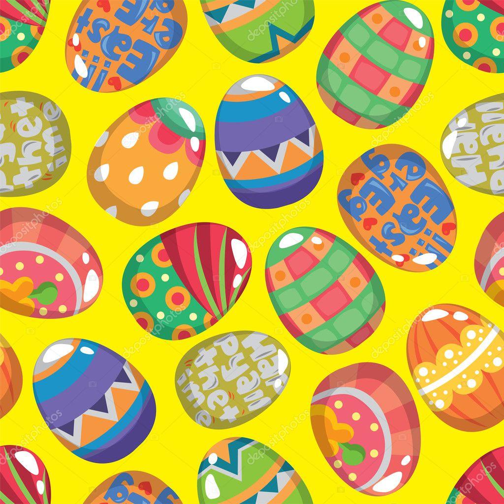 Seamless Easter Egg pattern — Stock Vector © mocoo2003 #8996371