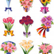 Flower bouquet icons — Stock Vector #9015087