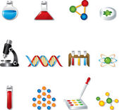 Science Web Icons — Stock Vector