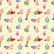 Royalty-Free Stock Vector Image: Rabbit holiday seamless pattern