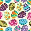 Stock Vector: Seamless Easter Egg pattern