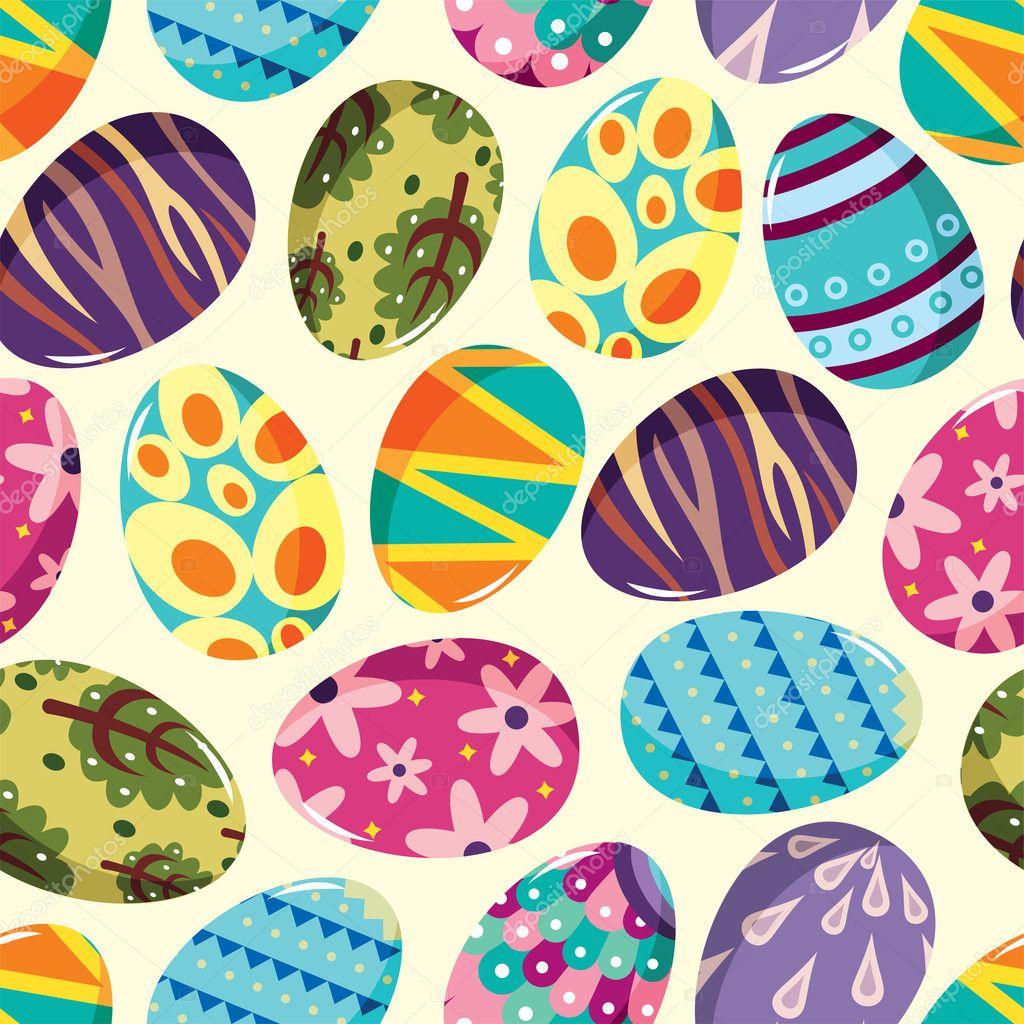 Seamless Easter Egg pattern — Stock Vector © mocoo2003 #9029716