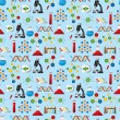 Royalty-Free Stock Vector Image: Science seamless pattern