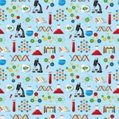 Science seamless pattern — Stock Vector