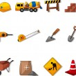 Stock Vector: Set of construction object