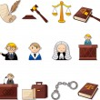 Law icons — Vector de stock #9127477