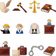 Law icons — Vettoriale Stock #9127477