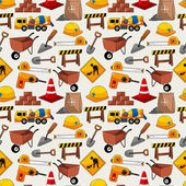 Construction object seamless pattern — Stock Vector