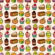 Royalty-Free Stock Vector Image: Seamless cake pattern