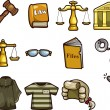 Law icons — Vector de stock #9204552