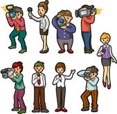 Set of reporter — Stock Vector