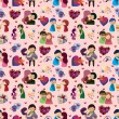 Royalty-Free Stock Vector Image: Seamless Valentine\'s Day pattern