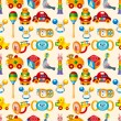 Stock Vector: Kid toy seamless pattern