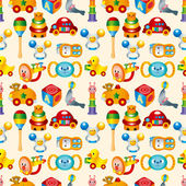 Kid toy seamless pattern — Stock Vector