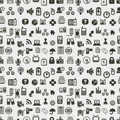 Seamless web icons pattern. Vector illustration. — Stockvector