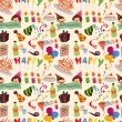 Seamless birthday pattern — Stock Vector #9336726